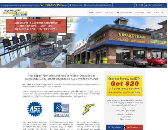 Web Design for Auto Repair Shop